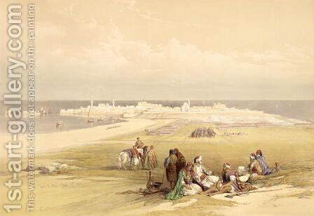 St. Jean dAcre, April 24th 1839, plate 65 from Volume II of The Holy Land, engraved by Louis Haghe 1806-85 pub. 1843 by David Roberts - Reproduction Oil Painting