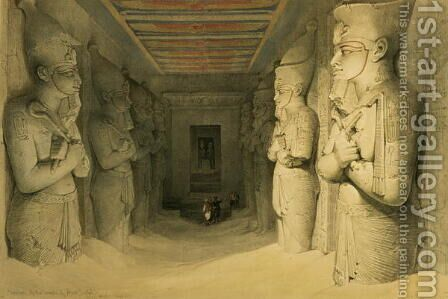 Interior of the Temple of Abu Simbel, from Egypt and Nubia, Vol.1 by David Roberts - Reproduction Oil Painting