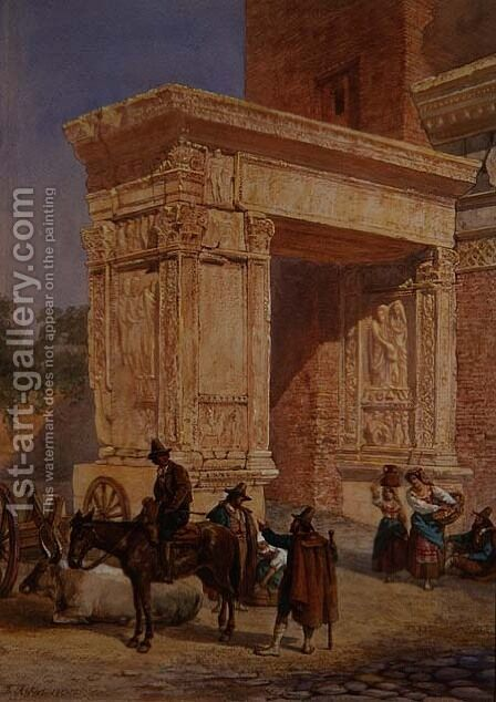 The Goldsmiths Gate, Rome by David Roberts - Reproduction Oil Painting