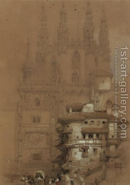 The Chapter House, Burgos Cathedral, 1832 by David Roberts - Reproduction Oil Painting