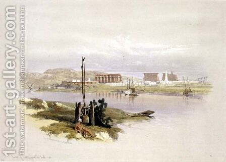 Ruins of Luxor from the South-west, from Egypt and Nubia, Vol.1 by David Roberts - Reproduction Oil Painting