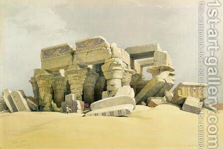 Ruins of the Temple of Kom Ombo, from Egypt and Nubia, Vol.1 by David Roberts - Reproduction Oil Painting