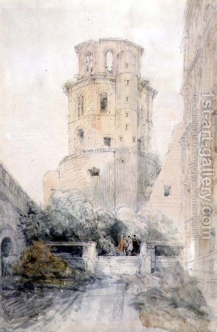 Tower at Heidelberg, c.1830 by David Roberts - Reproduction Oil Painting