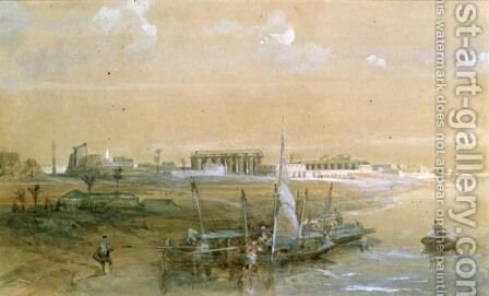 Luxor on the Nile, 1839 by David Roberts - Reproduction Oil Painting