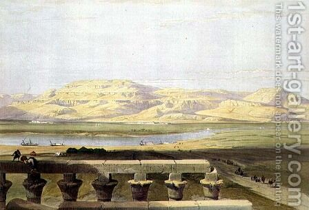 Libyan Chain of Mountains from the Temple of Luxor, from Egypt and Nubia, Vol.1 by David Roberts - Reproduction Oil Painting