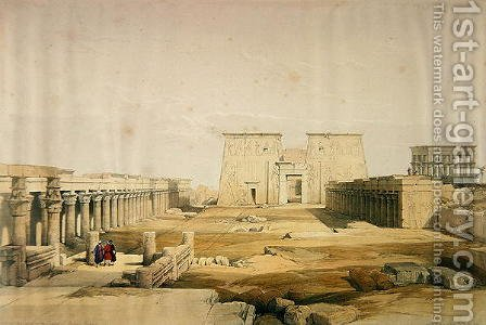 Grand Approach to the Temple of Philae, Nubia, from Egypt and Nubia, Vol.1 by David Roberts - Reproduction Oil Painting