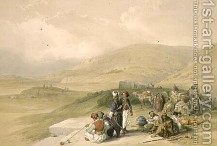 Jacobs Well at Shechem, April 17th 1839, plate 40 from Volume I of The Holy Land, engraved by Louis Haghe 1806-85 pub. 1842 by David Roberts - Reproduction Oil Painting