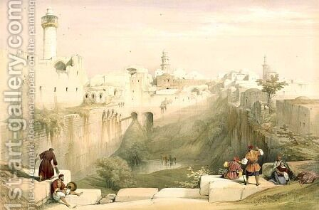 Jerusalem, April 12th 1839, plate 12 from Volume I of The Holy Land, engraved by Louis Haghe 1806-85 pub. 1842 by David Roberts - Reproduction Oil Painting