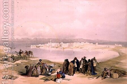 Suez, February 11th 1839, plate 124 from Volume III of The Holy Land, engraved by Louis Haghe 1806-85 pub. 1849 by David Roberts - Reproduction Oil Painting