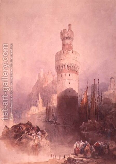 Oberwesel by David Roberts - Reproduction Oil Painting