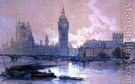 The Houses of Parliament by David Roberts - Reproduction Oil Painting