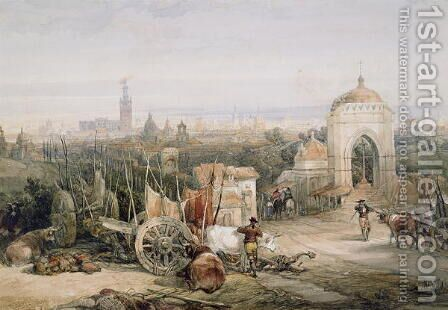 Seville from the Cruz del Campo, 1835 by David Roberts - Reproduction Oil Painting