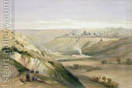 Jerusalem, April 5th 1839, plate 18 from Volume I of The Holy Land, engraved by Louis Haghe 1806-85 pub. 1842 by David Roberts - Reproduction Oil Painting