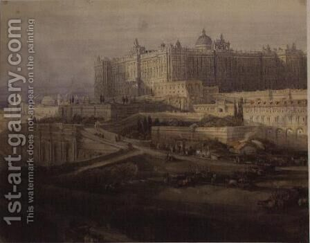 The Royal Palace, Madrid by David Roberts - Reproduction Oil Painting