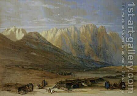 Encampment of the Tribe of the Outad-Said, Mount Sinai, 1839 by David Roberts - Reproduction Oil Painting
