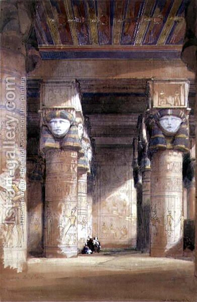 Dendera ancient Tentyris, 1838 by David Roberts - Reproduction Oil Painting