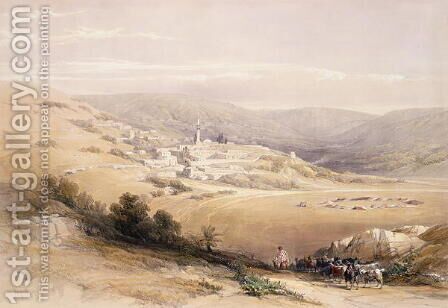 Nazareth, April 28th 1839, plate 28 from Volume I of The Holy Land, engraved by Louis Haghe 1806-85 pub. 1842 by David Roberts - Reproduction Oil Painting