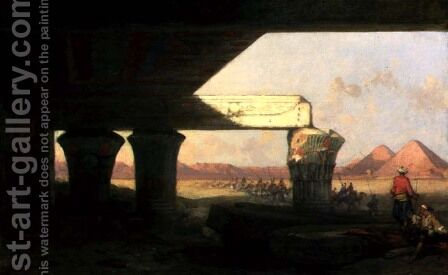 Egyptian Landscape with a Distant View of the Pyramids, 1862 by David Roberts - Reproduction Oil Painting