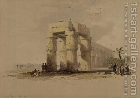 At Luxor, Thebes, Upper Egypt, from Egypt and Nubia, Vol.1 by David Roberts - Reproduction Oil Painting