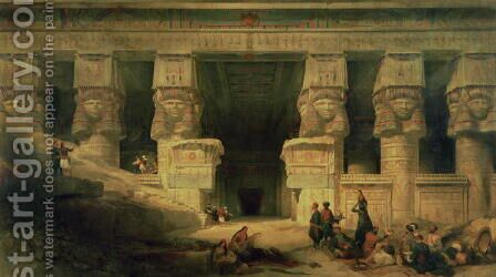 The Temple of Dendera, Upper Egypt, 1841 by David Roberts - Reproduction Oil Painting