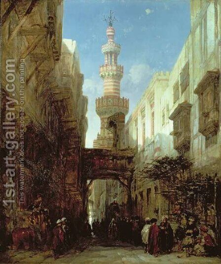 Street in Cairo, 1846 by David Roberts - Reproduction Oil Painting