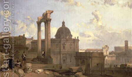 Ruins of the Roman Forum, 1859 by David Roberts - Reproduction Oil Painting