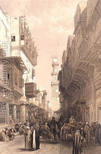 Mosque El Mooristan, Cairo, from Egypt and Nubia, Vol.3 by David Roberts - Reproduction Oil Painting