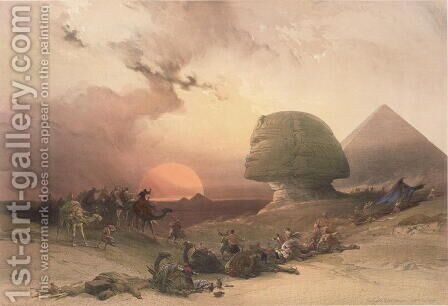 The Sphinx at Giza by David Roberts - Reproduction Oil Painting