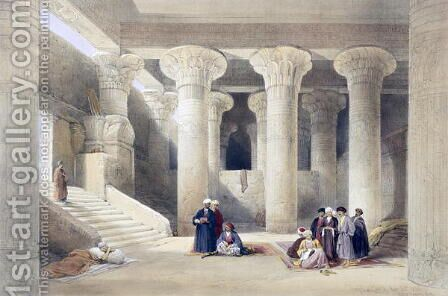 Interior of the Temple at Esna, Upper Egypt, from Egypt and Nubia, Vol.1 by David Roberts - Reproduction Oil Painting