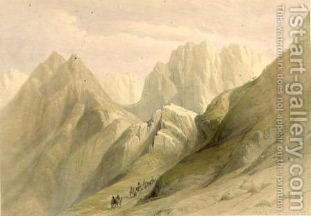 Ascent of the Lower Range of Sinai, February 18th 1839, plate 114 from Volume III of The Holy Land, engraved by Louis Haghe 1806-85 pub. 1849 by David Roberts - Reproduction Oil Painting