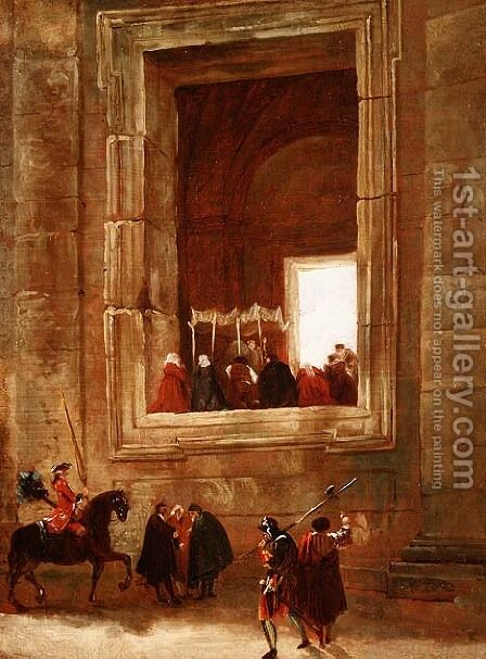 The Vatican, Rome by Hubert Robert - Reproduction Oil Painting