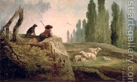 The Shepherd by Hubert Robert - Reproduction Oil Painting