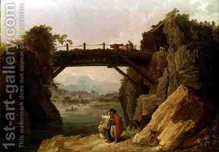 The Bridge by Hubert Robert - Reproduction Oil Painting