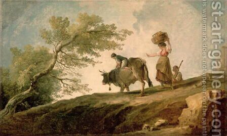The Pasture by Hubert Robert - Reproduction Oil Painting