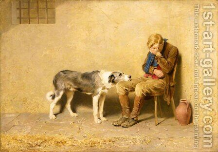 Fidelity, 1869 by Briton Rivière - Reproduction Oil Painting