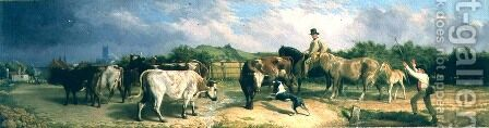 Road to Gloucester Fair by Briton Rivière - Reproduction Oil Painting