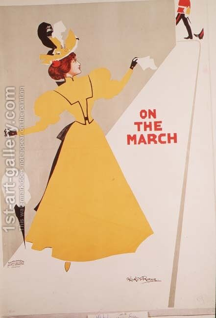 On the March by Alick P.F. Ritchie - Reproduction Oil Painting