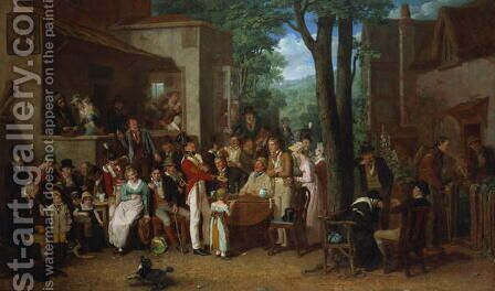 A Recruiting Party, 1822 by Edward Villiers Rippingille - Reproduction Oil Painting