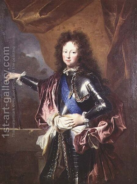 Portrait of Philippe II 1674-1723 Duke of Chartres as a Boy by Hyacinthe Rigaud - Reproduction Oil Painting