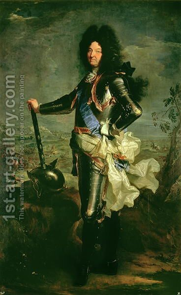 Portrait of Louis XIV 1638-1715 by Hyacinthe Rigaud - Reproduction Oil Painting
