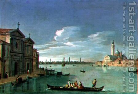 Venice from the Giudecca, San Giorgio Maggiore to the Right by (circle of) Richter, Johan Anton - Reproduction Oil Painting