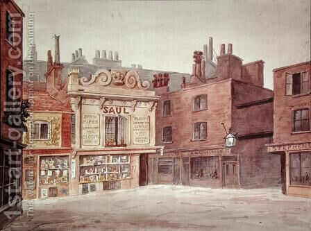 St. Jamess Market, Haymarket, c.1850 by Charles James Richardson - Reproduction Oil Painting