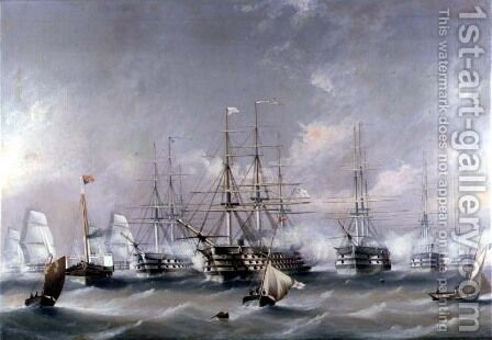 Naval Review by B. Spencer Richard - Reproduction Oil Painting
