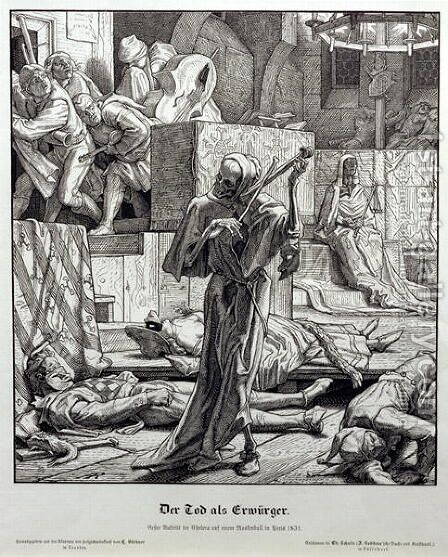 Death as Assassin, 1851 by Alfred Rethel - Reproduction Oil Painting