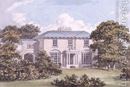 Design for the North Front of a House on Clapham Common for William Holme by Humphry Repton - Reproduction Oil Painting