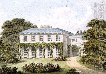 Design for the South Front of a House on Clapham Common for William Holme by Humphry Repton - Reproduction Oil Painting