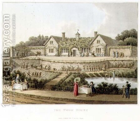 The Work House, from Fragments on the Theory and Practice of Landscape Gardening, pub. 1816 by Humphry Repton - Reproduction Oil Painting