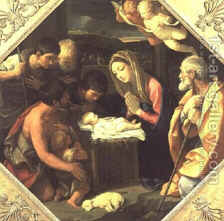 The Adoration of the Shepherds, c.1640-42 by Guido Reni - Reproduction Oil Painting