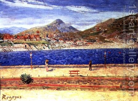 A View across the Water by Dario de Regoyos y Valdes - Reproduction Oil Painting