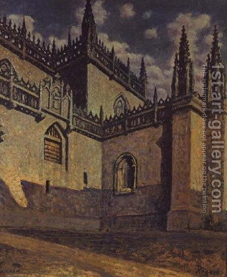Chapel of the Catholic Kings at Granada by Dario de Regoyos y Valdes - Reproduction Oil Painting